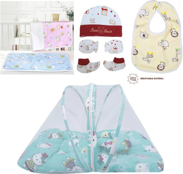 Miss & Chief Infant Daily Essential Items | Gift Set | Combo Pack(0-3 Months)(Total Items: 7)