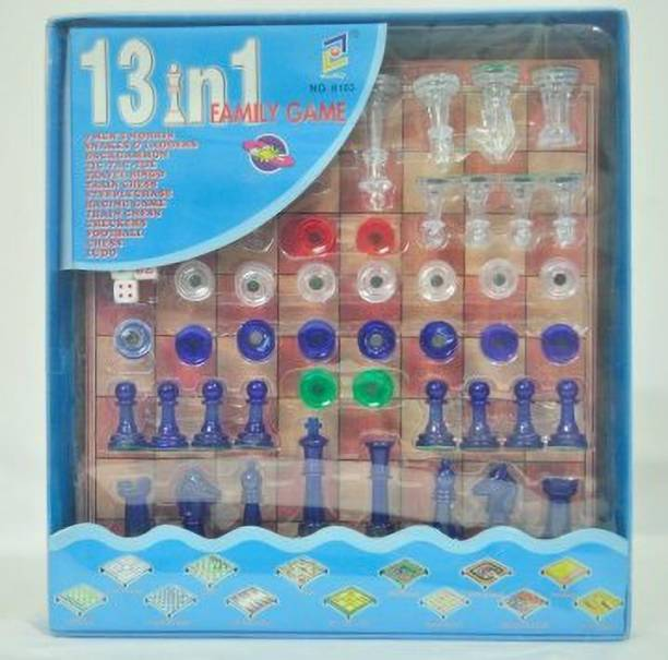 NEEVA ENTREPRISE NEEVA ENTERPRISE 13 in 1 Magnetic Ludo Chess Snake and Ladders Set Game Board Game for Kids Indoor Sports Games Board Game Word Games Board Game