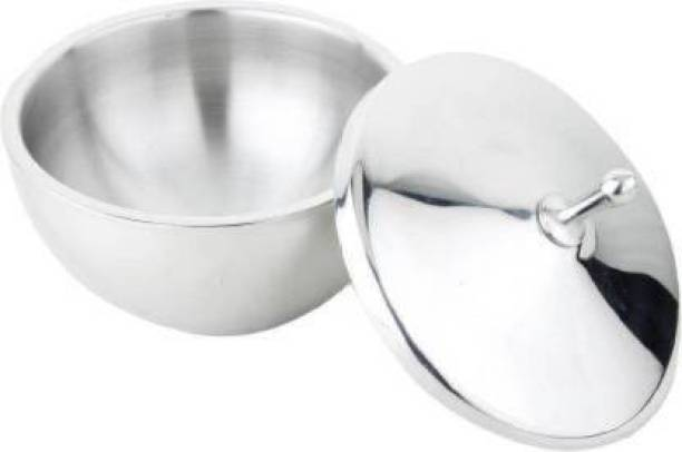 Brigo Stainless Steel Plain Serving Bowl with Lid Steel Serving Bowl