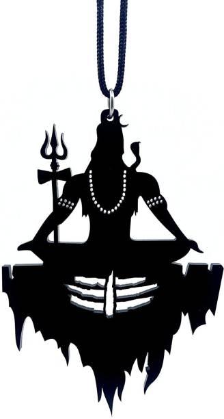 Ridivansh Creations Acrylic Lord Shiva Black Car Hanging Ornament