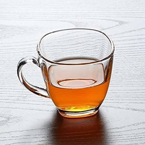 mahakal Pack of 6 Glass Transparent Glass Cup Tea & Coffee