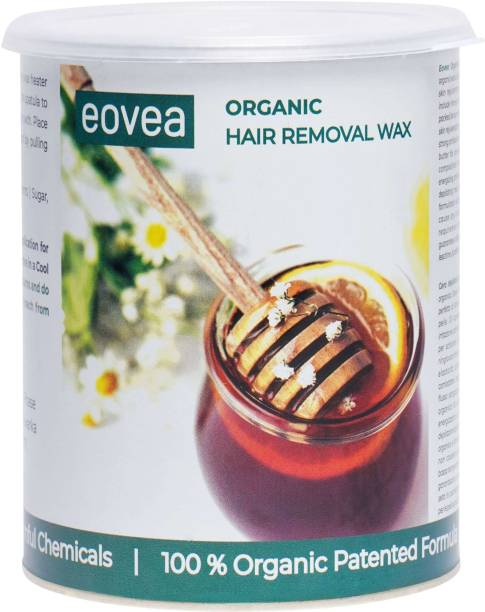 EOVEA Organic Hair Removal Wax 1100g | Hair Removal for Women | Removes Ingrown Hairs & Tan | Waxing for Face & Body | Salon like waxing at home Wax