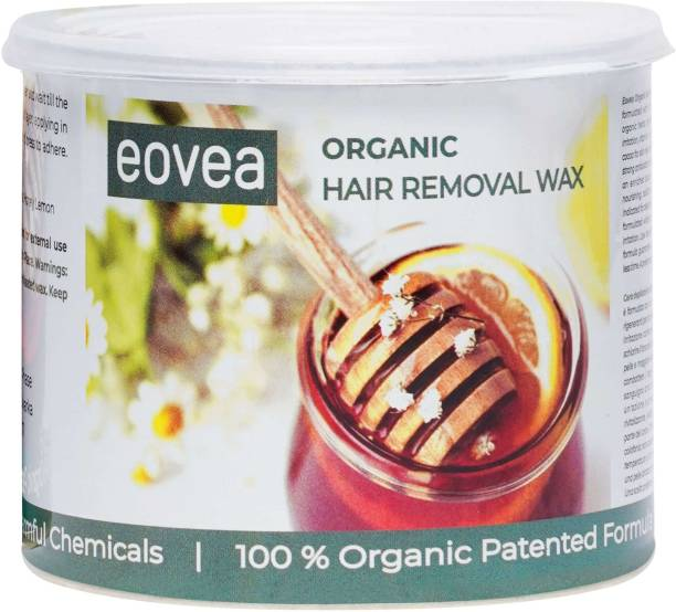 EOVEA Organic Hair Removal Wax | Hair Removal for Women | Removes Ingrown Hairs & Tan | Waxing for Face & Body | Salon like waxing at home Wax