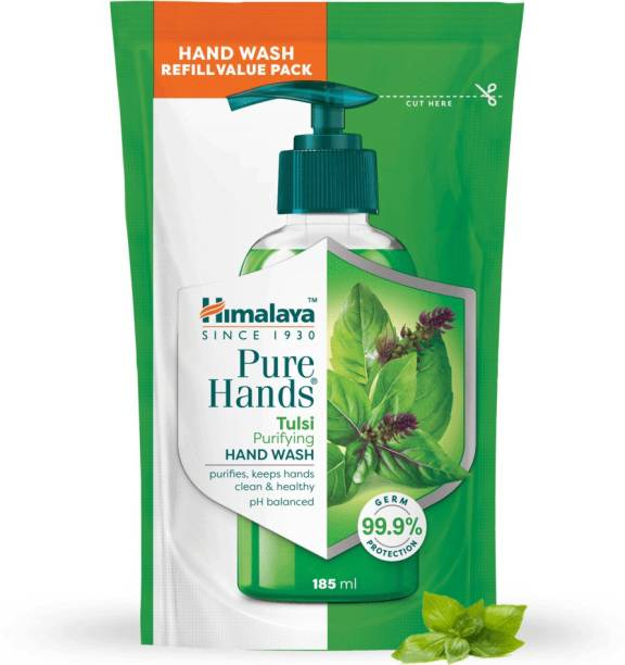 HIMALAYA PureHands Tulsi Purifying Hand Wash 185 ml -3 Hand Wash Pouch