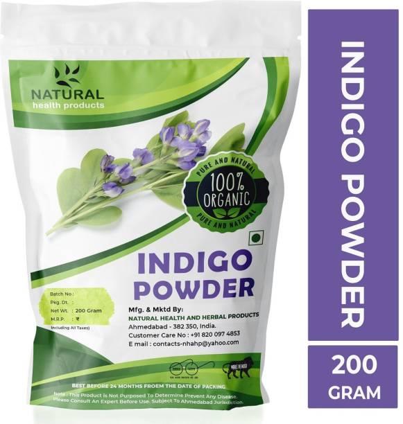 Natural health Products Indigo Powder (Indigofera Tinctoria) For Hair Pure Neel Powder For Black Hair & Beard Dye/Color - Black