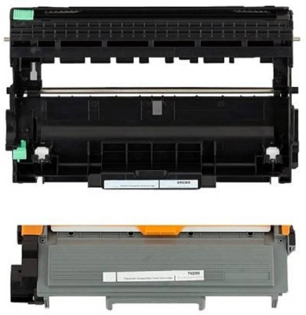 JK Toners TN 2365 Toner unit + dr2365 drum unit Compatible with Brother HL-L2321,2365,2380,2360,DCP-L2520,MFC-L2703 (Toner + Drum Unit) Black Ink Cartridge