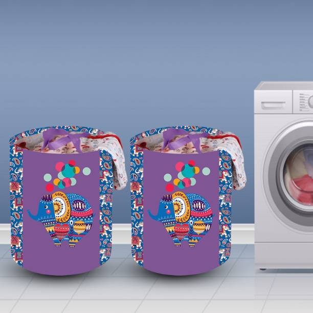 Flipkart SmartBuy 58 L Purple Laundry Basket
