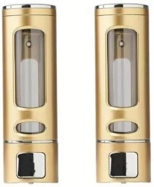 Gold Bell 400 ML Soap Dispenser Wall Mounted Gel, Lotion, Soap, Conditioner, Shampoo Dispenser (Gold)-PACK OF 2 400 ml Gel, Lotion, Foam, Conditioner, Soap, Shampoo Dispenser