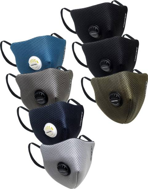 Gear OXYVENT ADULT 6 LAYER REUSABLE OUTDOOR FACE MASK� ACCOXVOD07MS105455504 Reusable