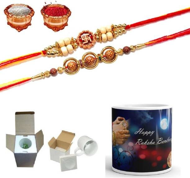 The Youth Fashion Designer Rakhi, Mug  Set