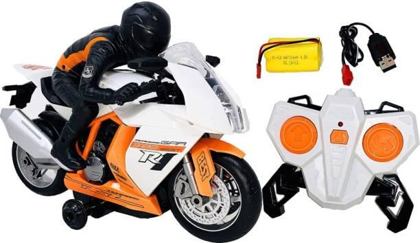 Miss & Chief High Speed Stunt RC Motorcycle Bike for Kids, Big Bike Remote Control R1 385 Motor Bike Infinite Power Kids