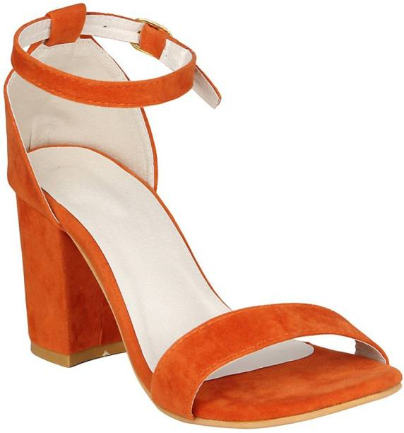 Fashion Footwear Women Orange Heels