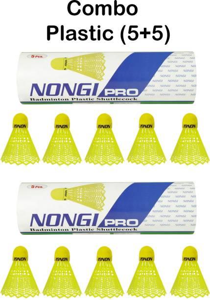 Nongi Pro Yellow Colored cork Plastic Shuttle  - Yellow