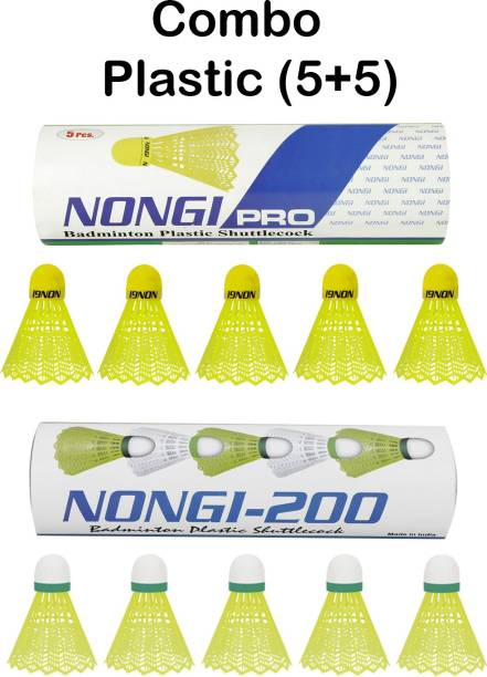 Nongi PRO combo Plastic Shuttle  - Yellow
