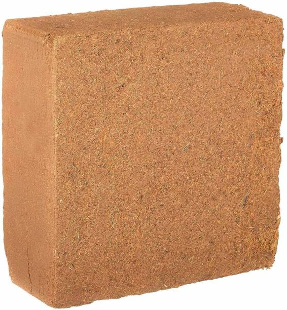 rashuali RA COCOPEAT BRICK 5kg (coirpith or cocofibre) for home gardening/ kitchen/terrace gardening/ potting mix/ organic soil manure Manure
