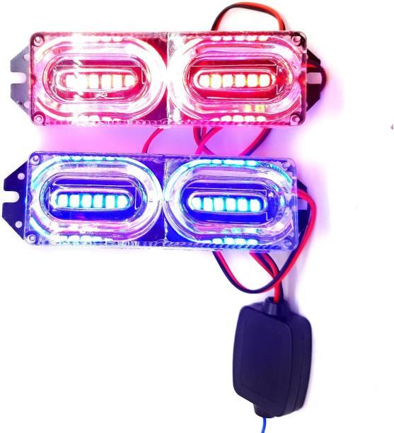 AutoPowerz BLINKING RED BLUE WARNING FLASHER/STROBE LIGHT License Plate Light, Brake Light Motorbike, Truck, Car LED (12 V, 4 W)