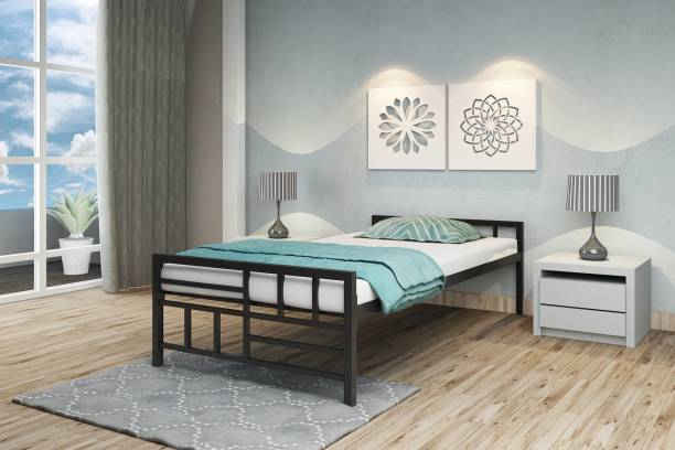 homdec Scorpius Space Saving Foldable Metal Single Bed