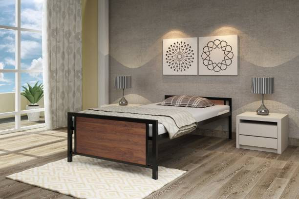 homdec Taurus Space Saving Foldable Metal Single Bed