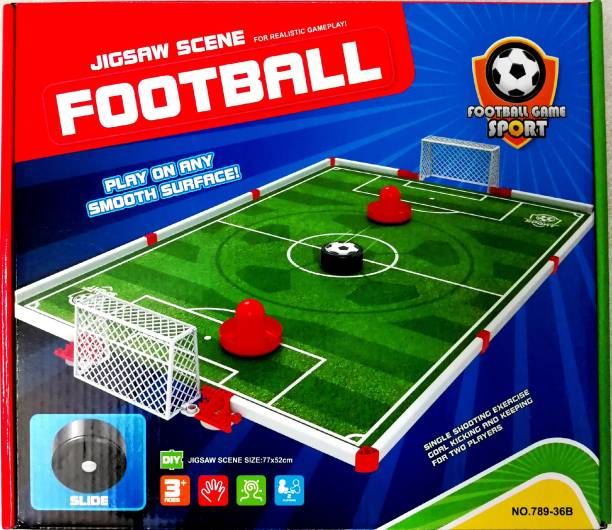 Krypton Table Football Set With Field And Sliding Ball Puck Indoor Sports Games Board Game
