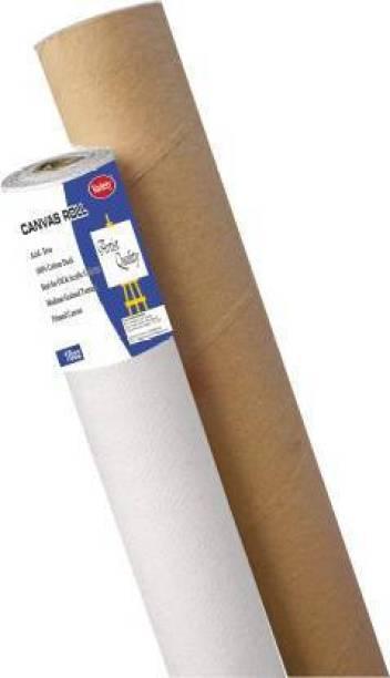 "variety 12 "" X 5 MTR ROLL CANVAS Cotton Medium Grain Canvas Roll (Set of 1)"