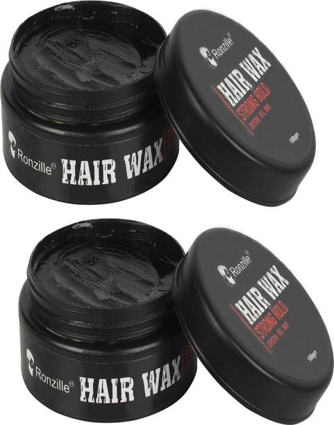 RONZILLE Hair Wax, Strong Hold Pack Of 2 (100 gm X 2 = 200 Gram) Hair Wax