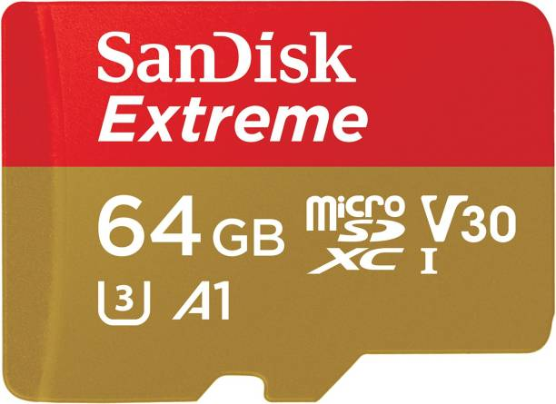 SanDisk Extreme 64 GB MicroSDXC UHS Class 3 160 Mbps  Memory Card