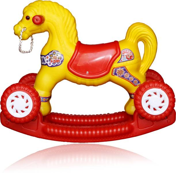 moreyaji 2 in 1 Baby Horse Rider | Rocker for Kids 1-3 Years Birthday Gift for Kids/Boys/Girls Rideons & Wagons Non Battery Operated Ride On