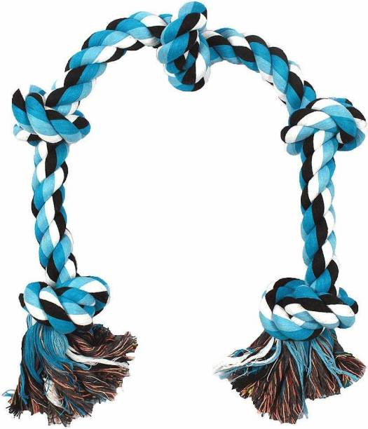ms petcare Dog Chew Rope Toy for Medium to Adult Dogs with 5 Chew Knots 28 Inch Long - Extra Durable Cotton Chew Toy For Dog