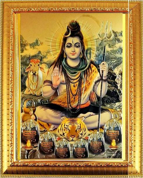 SUNINOW Shiv JI God Photo | GOD PHOTO FRAMES | Hindu god photo | bhagwan photo Religious Frame