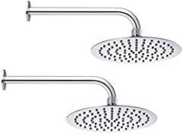 Gold Bell Pack of 2-Round 10X10 Shower Head with 24 inch arm Shower Head