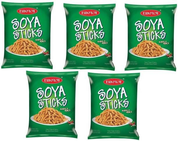 Bikaji SOYA Stick - Indian Namkeen Snack 200g - Pack of 5( 200g*5)