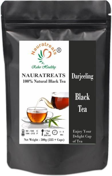 Nauratreats Darjeeling Black Tea 500g (220 + Cups) | Darjeeling Leaf Tea | Darjeeling Tea | Black Tea | Black Tea Leaves | Tea Leaves | Immunity Tea | Loose Leaf Tea Unflavoured Black Tea Pouch