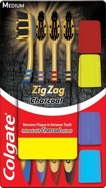 Colgate ZigZag Charcoal M Medium Toothbrush