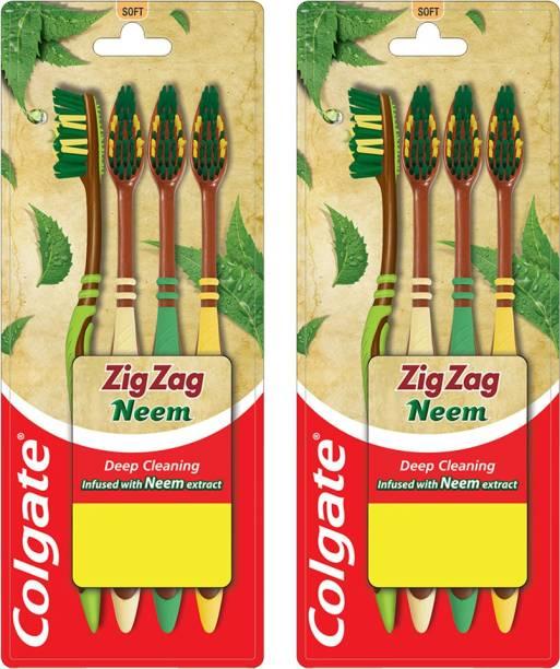 Colgate ZigZag Neem S Combo Packs Soft Toothbrush