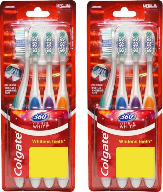 Colgate 360 Visible White Toothbrush Combo Packs Soft Toothbrush
