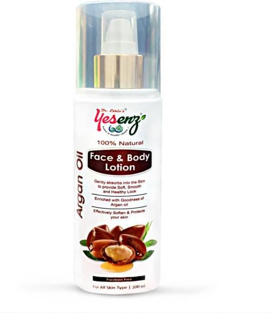 Dr.Ethix YESENZ Argan Oil Ultra Nourishing Body Lotion, 200ml - Soothing, Moisturizing & Nourishing