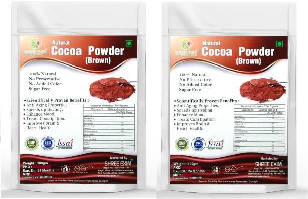 SHREE EXIM Natural Cocoa Powder 100 % Pure Unsweetened Cocoa Powder