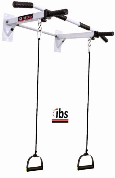 IBS Pull up Bar Home Gym Solid Fitness Gym Accessories (Color- White) Pull-up Bar