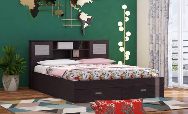 Zuari Georgia Engineered Wood Queen Drawer, Box Bed