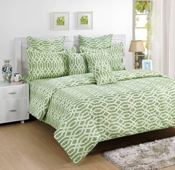 SWAYAM 144 TC Cotton Single Striped Bedsheet