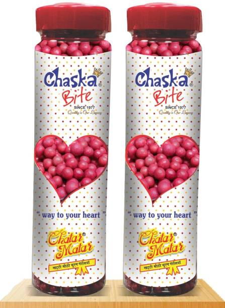 CHASKA BITE  Chatar Matar Candies Khatti Meethi Chatpati Goli Pack of 2 200 gm x 2 SWEET AND SOUR FLAVOR Sour Candy
