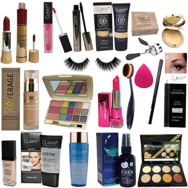 clamy cosmetics makeup kit combo waterproof and matte finish makeup product
