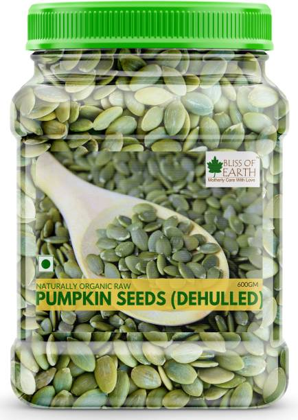 Bliss of Earth 600GM Naturally Organic Pumpkin Seeds For Eating, Dehulled & Raw Super Food, Ready TO Eat