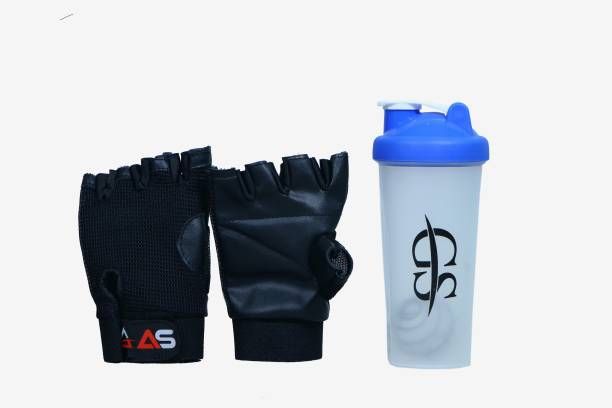 AS MACHO GLOVE WITH SHAKER Gym & Fitness Kit