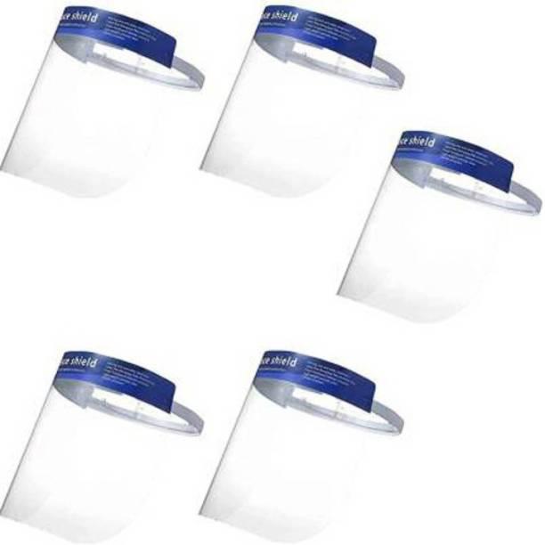 URBAN MED Full Face Shield Mask, face shield mask reusable, plastic, for man, for kids, for women, FHDFG1509 Face shield mask Safety Visor