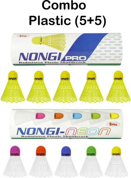 Nongi NEON Colored Cork Plastic Shuttle  - Multicolor