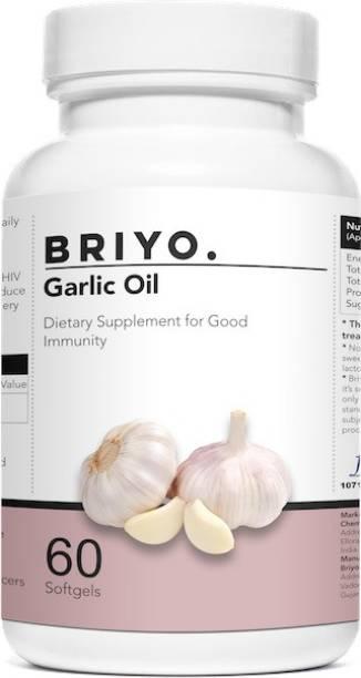 BRIYOSIS Odorless Garlic Softgels - go softgels - Allicin Rich Pure Garlic Oil Supplement