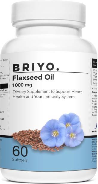 BRIYOSIS Organic Flaxseed Oil Softgels