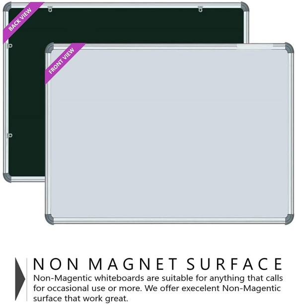 Ishan creation Non Magnetic Black and 1.5x1 Feet Whiteboards