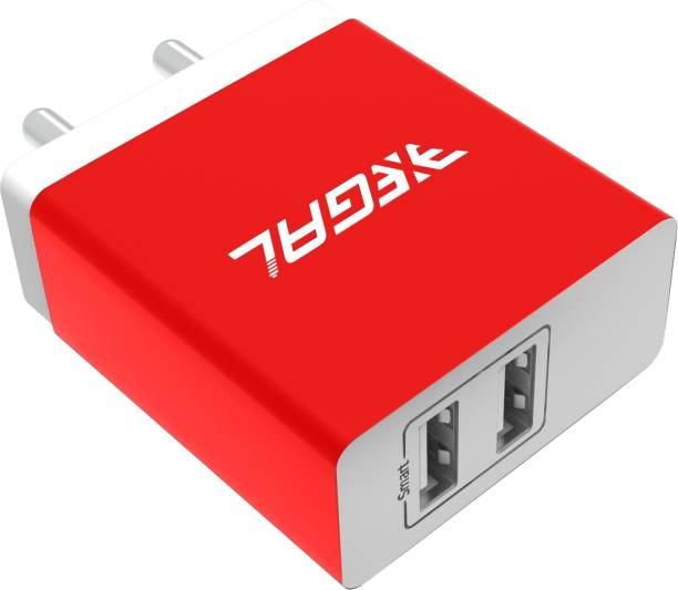 Xegal 3.1A Dual Port Smart Fast Charger for All Android Smart Phone 3.1 A Multiport Mobile Charger with Detachable Cable